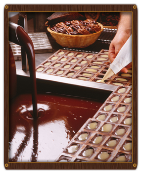 Belgian chocolate making at Planète Chocolat