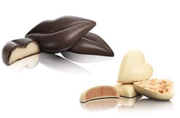 Bouche en chocolat - kiss